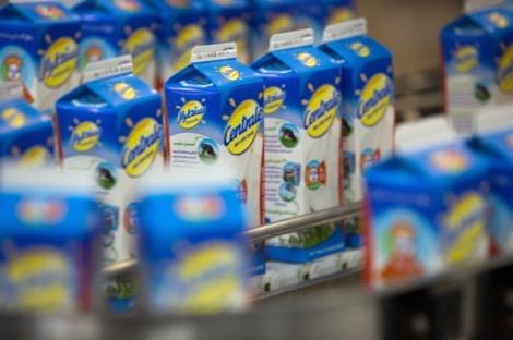 """خوفا من حملة مقاطعة المنتوجات الفرنسية شركة """"سنطرال دانون"""" تضع شعار """"٪100 مغربي"""" على الحليب"""