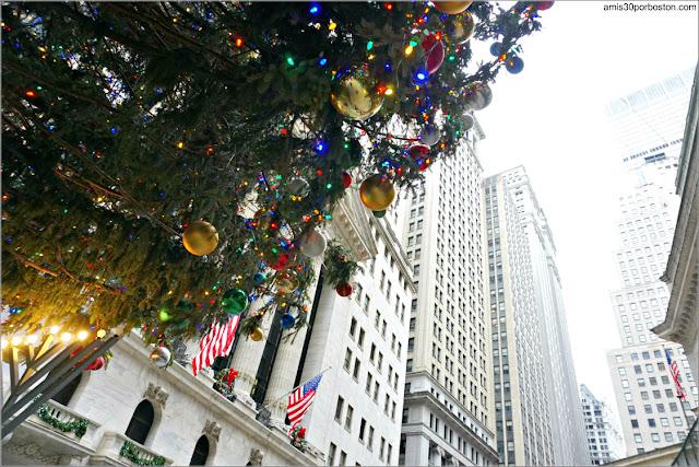 Árbol de Navidad de Wall Street en Nueva York