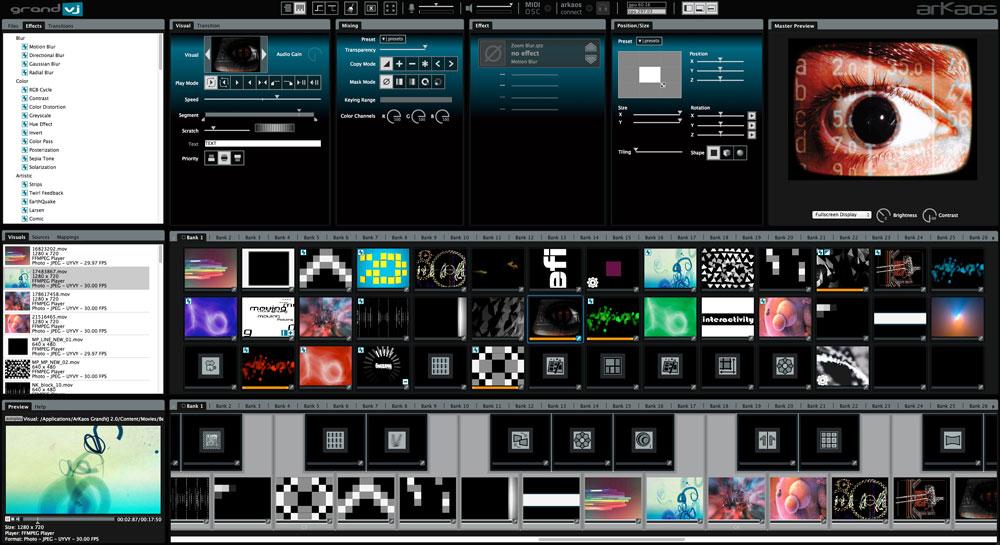 Phần mềm trình chiếu màn hình Led ArKaos GrandVJ