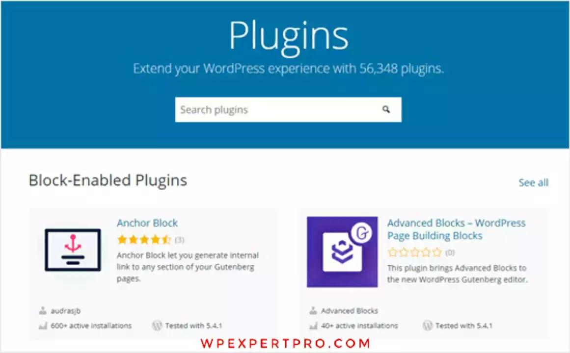 Add WordPress plugins