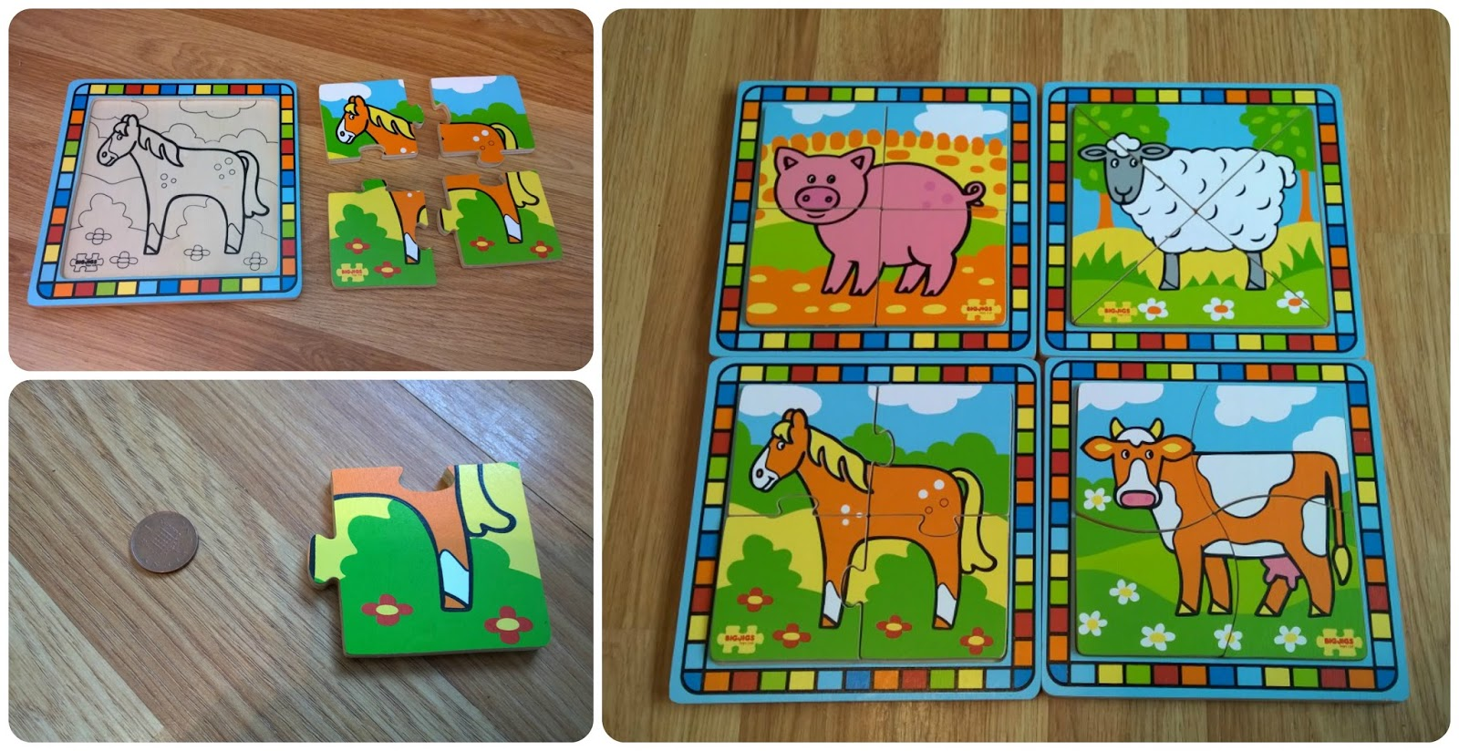 Bigjigs First Farm Puzzles