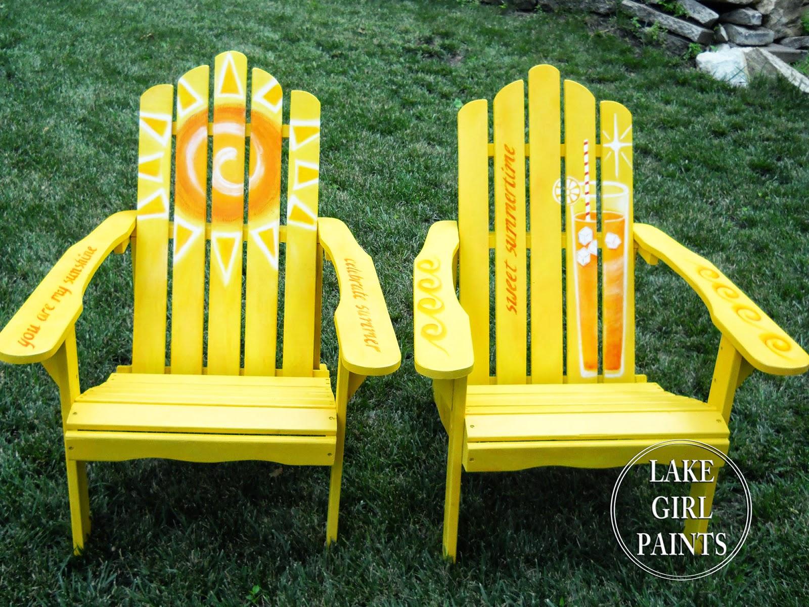 Ideas For Painting Adirondack Chairs Chair Rental Philadelphia Lake Girl Paints June 2014