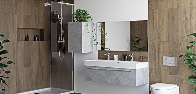 ديكور حمام عصري فخم خشبي موديل 2020