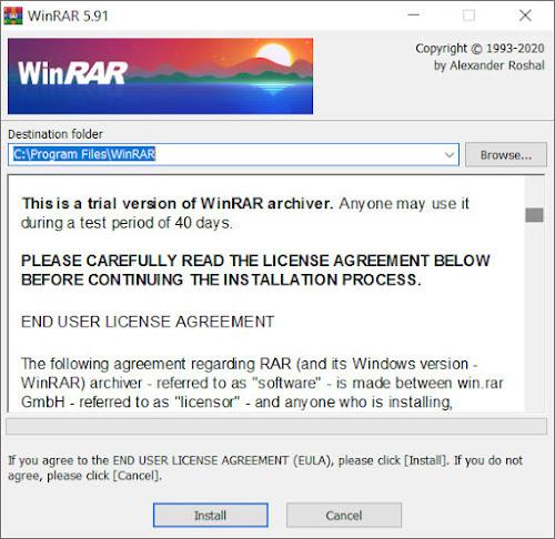 Download WinRAR mới nhất Windows 10 32 bit/64 bit.