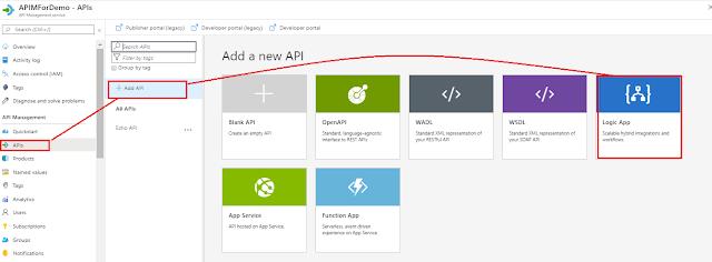 import logic app in APIM