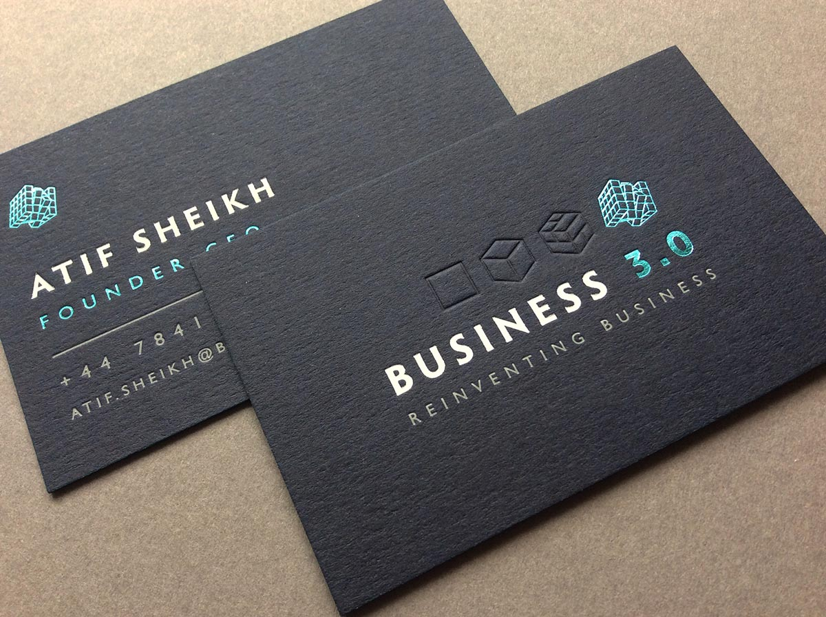 Embossed business cards business card tips embossed business cards colourmoves