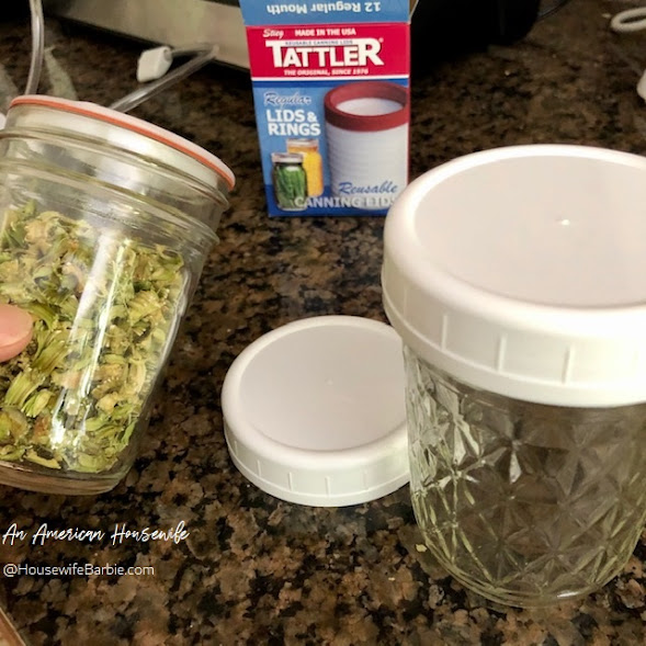 Tattler lids work with my canister food sealer for mason jars