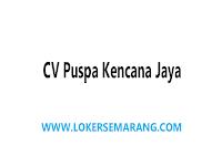 Loker Semarang Mandor / Supervisor / Pengawas di CV Puspa Kencana Jaya