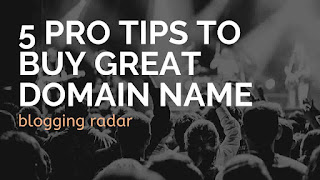 tips to buy a great domain name