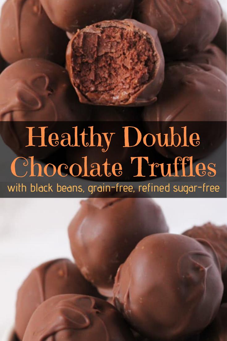 Healthy Double Chocolate Truffles