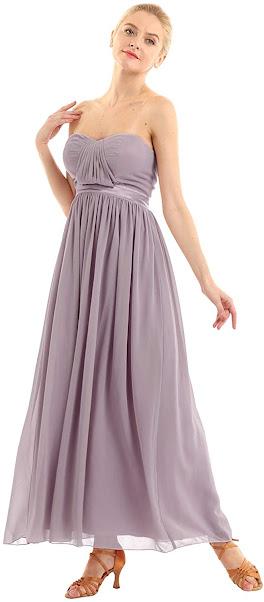 Beautiful Strapless Chiffon Bridesmaid Dresses