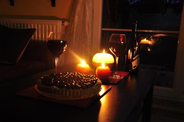 tarta, czarna porzeczka, mascarpone, randka z mężem, wino