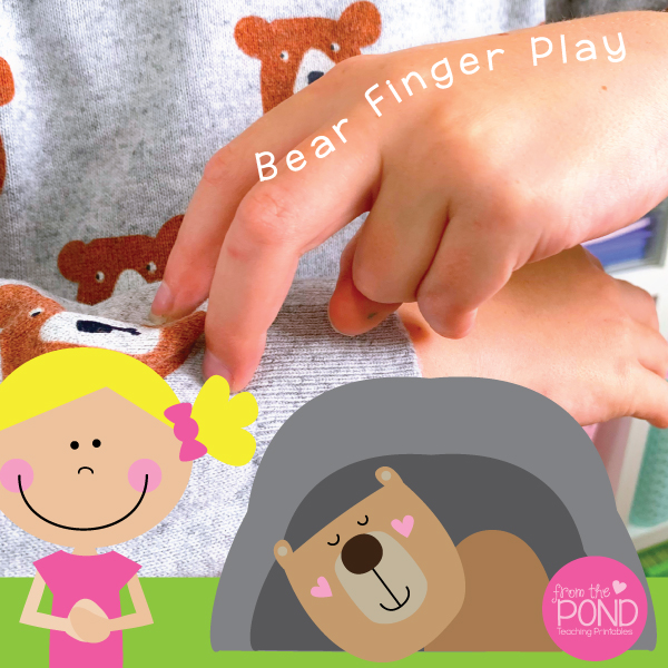 Bear Cave Finger Play From the Pond Printable