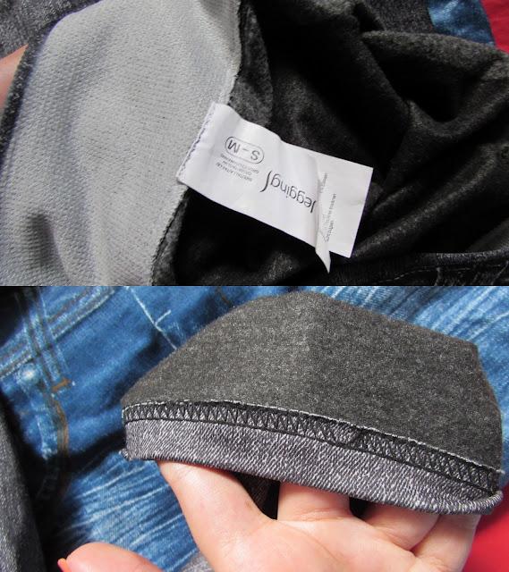detalhes legging jeans