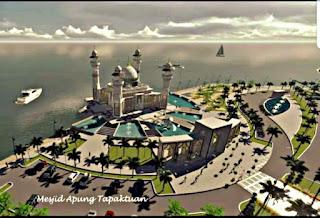 Aceh Selatan akan Punya Masjid Terapung di Laut
