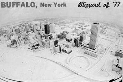Blizzard of 77 Buffalo, New York postcard