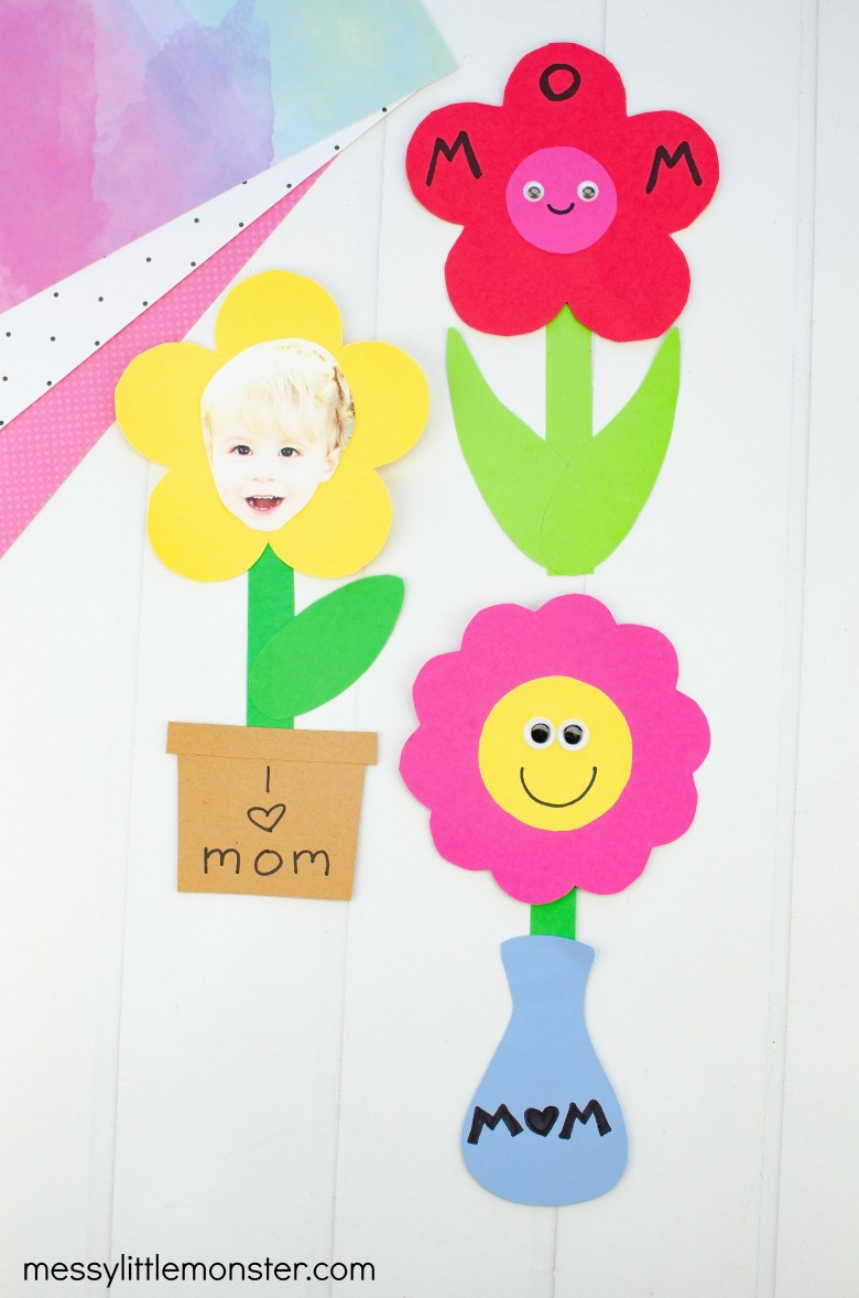 Mothers Day flower craft for kids