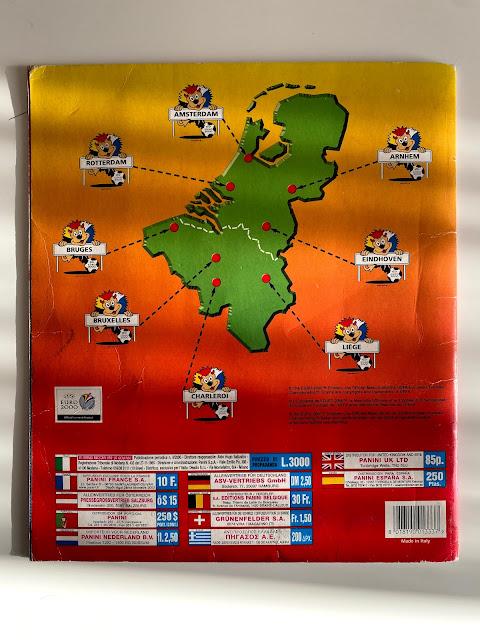 Quarta di copertina Euro 2000 Panini