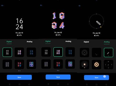 Custom Always On Display Realme UI