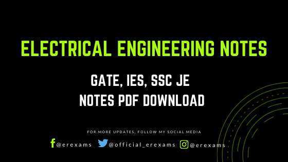Electrical Engineering Pdf Notes – GATE, IES, SSC JE Notes - ErExams - Engineering Exams Guidance RSS Feed  IMAGES, GIF, ANIMATED GIF, WALLPAPER, STICKER FOR WHATSAPP & FACEBOOK