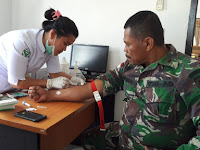 Babinsa Kodim 0910/ Mln Cek HIV AIDS Beserta Perangkat Desa Binaannya