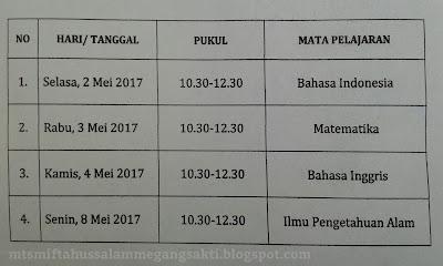 Jadwal UN/ UNBKP SMP/ MTS 2017
