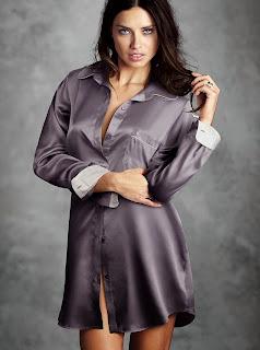 Adriana Lima Various Satin Pajamas Satin Lite House