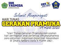 Ucapan Selamat Hari Tunas Gerakan Pramuka 09 Maret