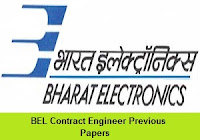 BEL Contract Engineer Previous Papers