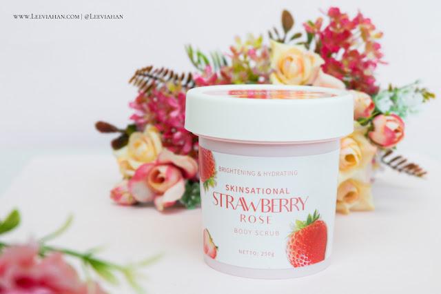 Y.O.U  Skinsational Strawberry Rose Body Scrub Review. Y.OU Cosmetics, Y.O.U Skincare, Y.O.U Body Care, Body Scrub, lulur lokal, Body scrub lokal, body scrub Y.O.U, Body scrub mencerahkan
