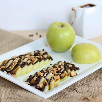 Peanut Butter Caramel Apple Nachos