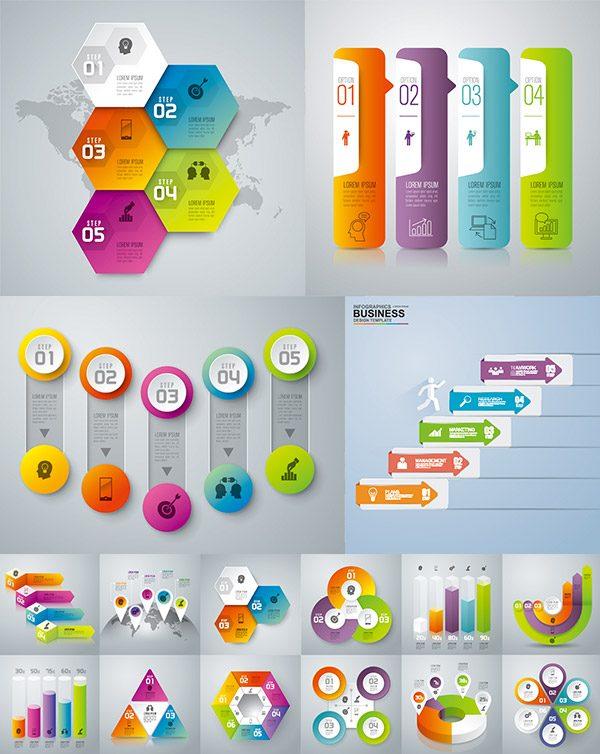 des illustrations infographique en format   eps gratuits
