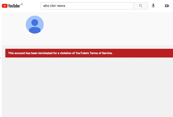 Youtube Channel of 'ABS-CBN News' seems to be terminated - GazeFeed