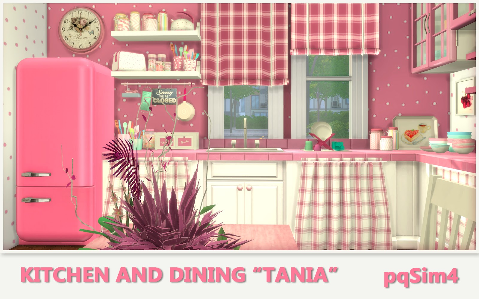 kitchen and dining tania sims 4 custom content. Black Bedroom Furniture Sets. Home Design Ideas