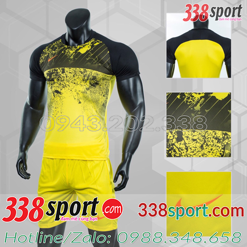 Mẫu Áo Bóng Đá Không Logo Đẹp Nike Roter Vàng
