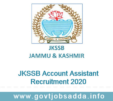 JKSSB Account Assistant Recruitment 2020 Apply Online For 10464 Posts