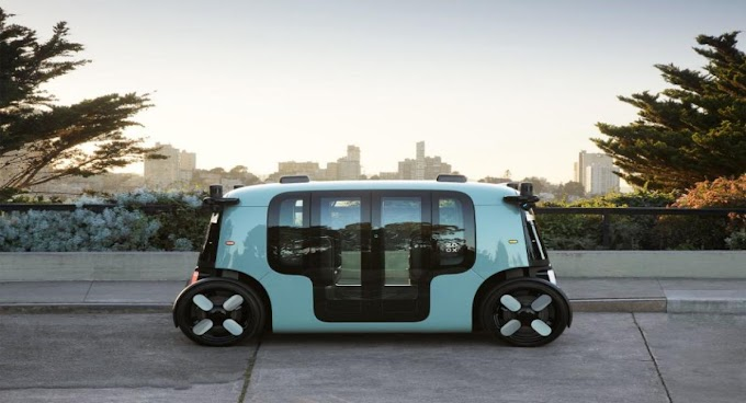 Zoox, that's the electric, self-contained robotaxi that Amazon is already testing