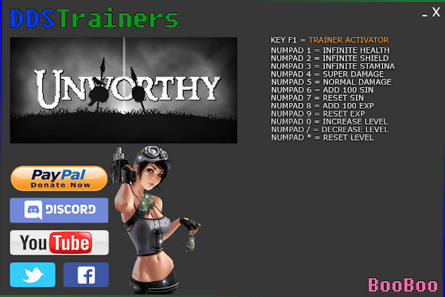 Unworthy Trainers and Cheats for PC