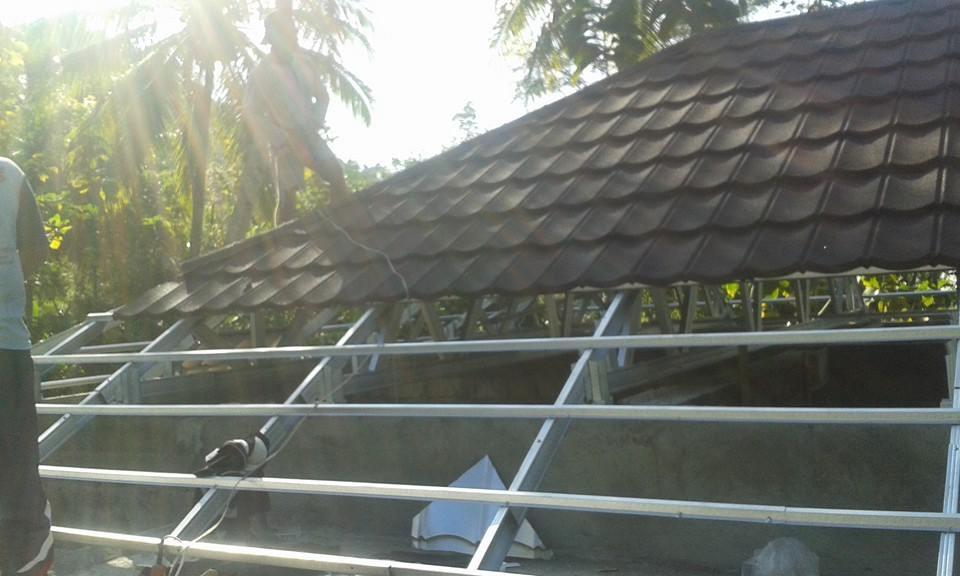 Harga Atap Baja Ringan Lapis Pasir Desain Bangunan Kontraktor Suplier Dan Aplikator