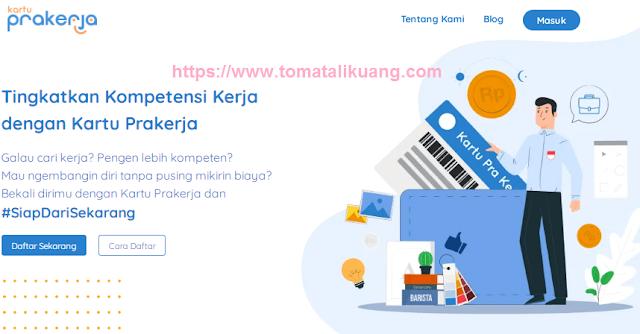 persyaratan kartu pra kerja; cara mendaftar kartu prakerja; tomatalikuang.com