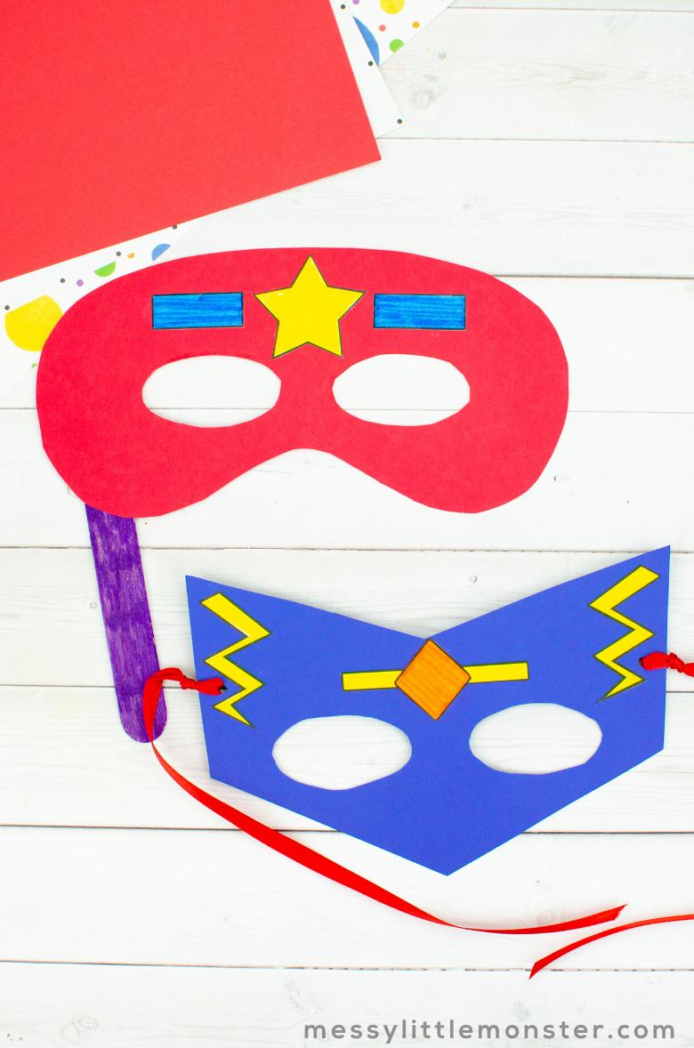 superhero mask craft for kids