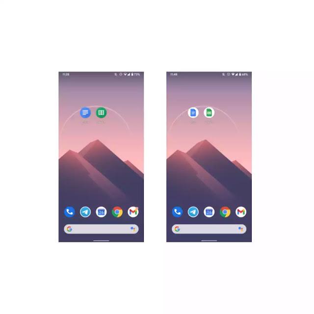 Google met à jour les icônes des applications