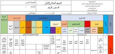 توزيع مجالي لمرجع المفيد في اللغة العربية المستوى الرابع-