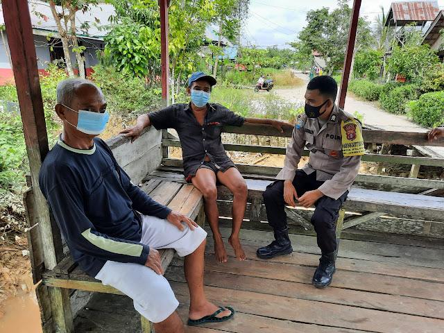 Sambangi Warga, Brigpol M. Mursalin Sosialisasikan protokol kesehatan covid-19
