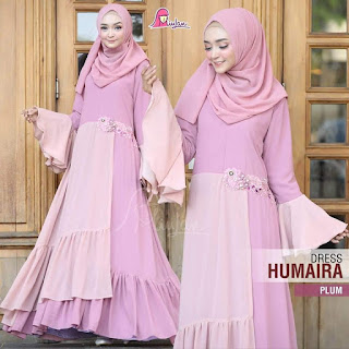 dress humaira plum