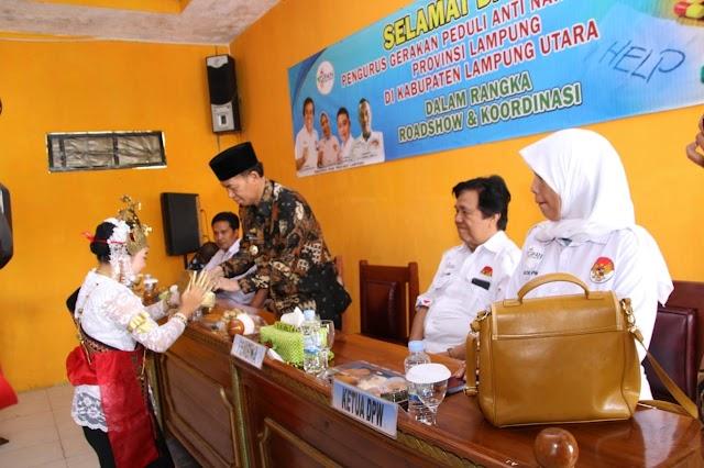 Plt. Bupati Lampung Utara Hadiri Acara Road Show dan Koordinasi Dewan Pengurus Wilayah Gerakan Peduli Anti Narkoba Provinsi Lampung