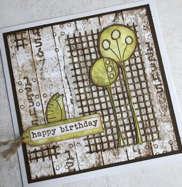 Card featuring EKD01 and PaperArtsy paints by Nikki Acton