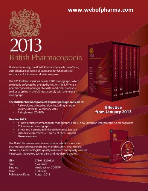 British Pharmacopoeia in software form