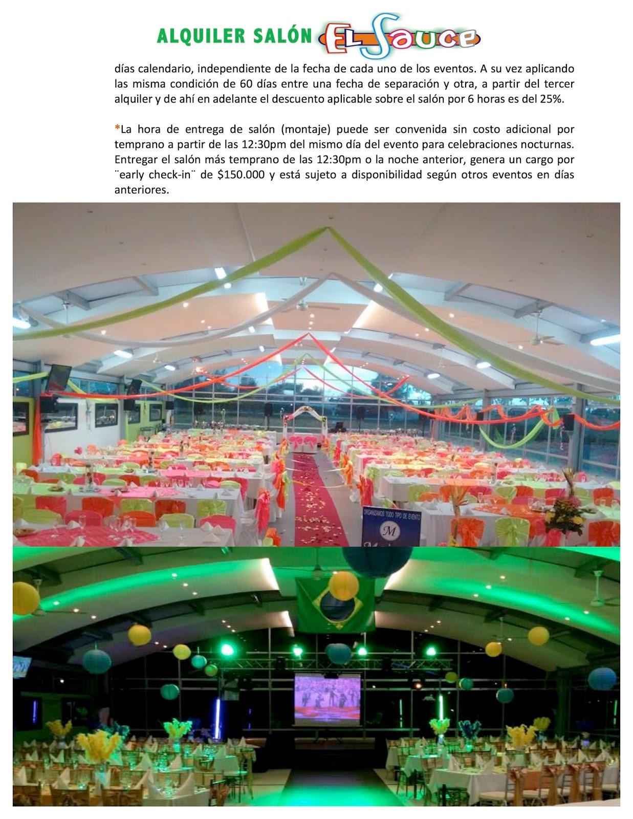 Centro de eventos parque restaurante el sauce matrimonios for R b salon coimbatore