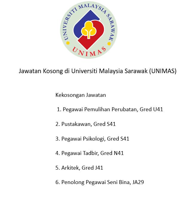 Jawatan Kosong Di Universiti Malaysia Sarawak Unimas Malaysia Job Website